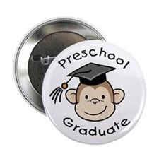 "Monkey Preschool Graduate 2.25"" Button (10 pack)"