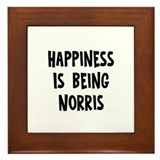 Happiness is being Norris Framed Tile