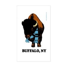 Buffalo Scarf Rectangle Decal