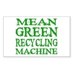 Mean Green Rectangle Sticker