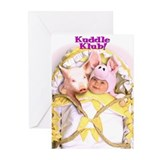 """Pigs In A Blanket"" from Kuddle Klub Greeting Card"