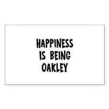 Happiness is being Oakley Rectangle Decal
