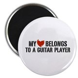 My Heart Belongs to a Guitar Player Magnet