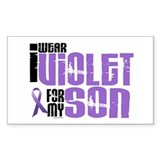 I Wear Violet For My Son 6 Rectangle Decal