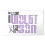 I Wear Violet For My Son 6 Rectangle Sticker 50 p