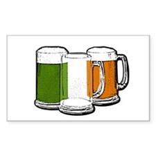 Irish Flag Mugs Rectangle Decal