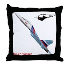 Funny Flanker Throw Pillow
