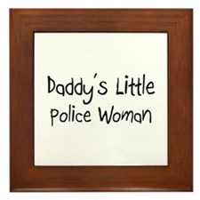 Daddy's Little Police Woman Framed Tile