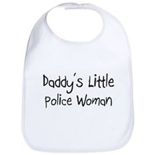 Daddy's Little Police Woman Bib