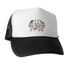 New Orleans Bead Design Trucker Hat
