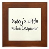 Daddy's Little Police Inspector Framed Tile