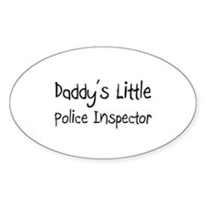 Daddy's Little Police Inspector Oval Decal