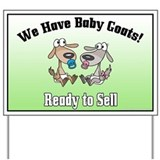 Baby Goats for Sale NO Horns Yard Sign