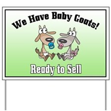 Baby Goats for Sale Horns Yard Sign