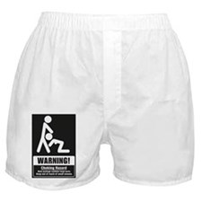 Warning Choking Hazard Boxer Shorts