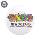 New Orleans Squares 3.5&amp;quot; Button (10 pack)