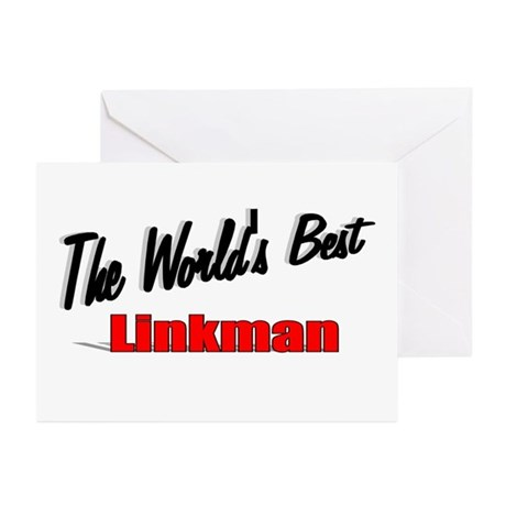 """The World's Best Linkman"" Greeting Cards (Pk of 2"