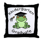 Frog Kindergarten Graduate Throw Pillow