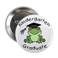 "Frog Kindergarten Graduate 2.25"" Button (100 pack)"