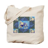 Collie with Ferns Tote Bag