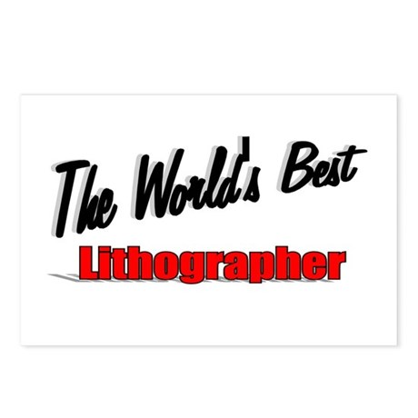 """The World's Best Lithographer"" Postcards (Package"