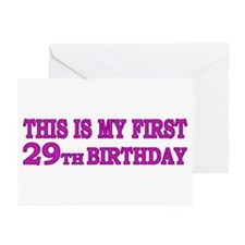 1st 29th Birthday Greeting Cards (Pk of 10)