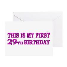 1st 29th Birthday Greeting Card
