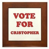 Vote for CRISTOPHER Framed Tile
