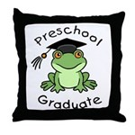 Frog Preschool Graduate Throw Pillow