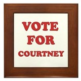 Vote for COURTNEY Framed Tile