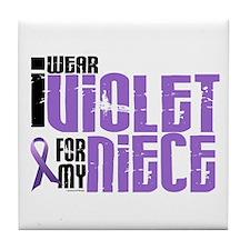 I Wear Violet For My Niece 6 Tile Coaster
