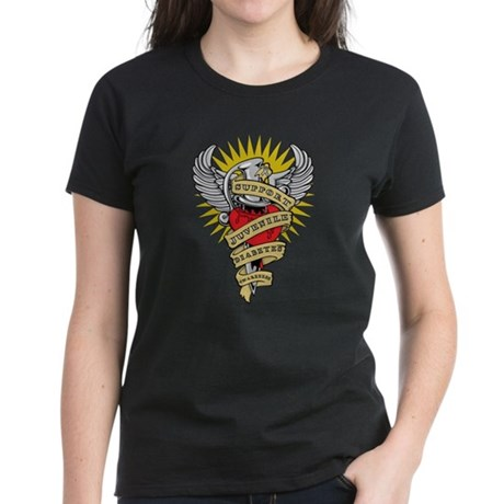 Juvenile Diabetes Dagger Women's Dark T-Shirt
