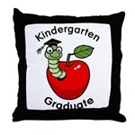 Bookworm Kndergaten Graduate Throw Pillow