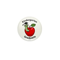Bookworm Kndergaten Graduate Mini Button (10 pack)