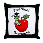 Bookworm Preschool Graduate Throw Pillow