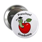 "Bookworm Preschool Graduate 2.25"" Button (100 pack"