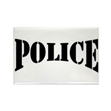 Police Rectangle Magnet