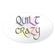 Quilt Crazy Oval Stickers