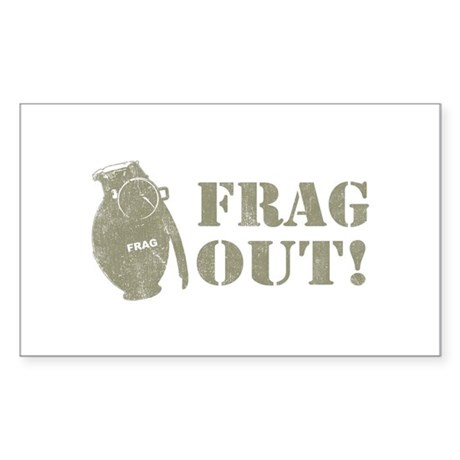 Frag Out! Rectangle Sticker