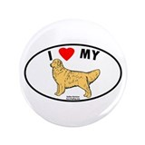 "I Love My Golen Retriever 3.5"" Button"