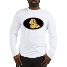 Golden Retriever Euro Oval Long Sleeve T-Shirt