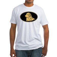 Golden Retriever Euro Oval Shirt