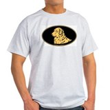 Golden Retriever Euro Oval T-Shirt