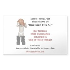Vaccine, Autism Rectangle Sticker 50 pk)