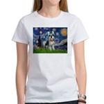 Starry Night /Schnauzer(#8) Women's T-Shirt