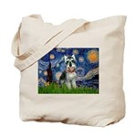 Starry Night /Schnauzer(#8) Tote Bag