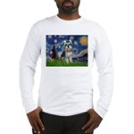Starry Night /Schnauzer(#8) Long Sleeve T-Shirt