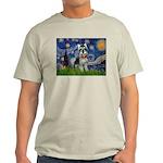 Starry Night /Schnauzer(#8) Light T-Shirt