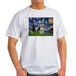 Starry Night /Schnauzer(#8) Light T-Shirt