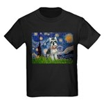 Starry Night /Schnauzer(#8) Kids Dark T-Shirt